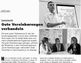 Seminarbericht: Gute Vereinbarungen verhandeln